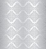 Seamless metallbakgrund för silver Arkivfoto