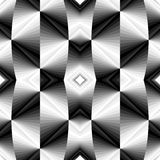 Seamless Metallic Polygonal Geometric Pattern.Concave Background Shimmering from Dark to Light Tones Creates Optical Volume Effect Royalty Free Stock Image
