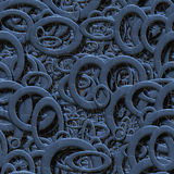 Seamless metallic rings Royalty Free Stock Photo