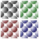 Seamless metallic rings texture Royalty Free Stock Photography