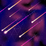 Seamless meteor shower background Royalty Free Stock Photo