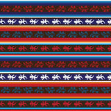 Seamless mexican lizard fabric pattern. In blue, red and white Stock Image
