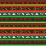Seamless mexican lizard fabric pattern. In green, red and white Stock Photo