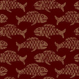 Seamless Mexican pattern with fish stock illustration