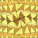 Seamless Mexican shabby pattern in shades of yellow Stock Image