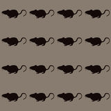 Seamless mice on grey background Stock Photo