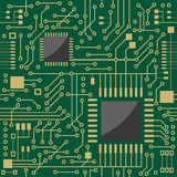 Seamless microcircuit. As a background Royalty Free Stock Photo