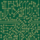 Seamless microcircuit Stock Photo