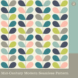Seamless mid century modern vector pattern Stock Photos