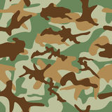 Seamless Military Camouflage Pattern Stock Image