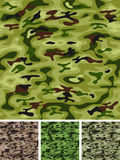 Seamless Military And Hunting Camo Stock Images