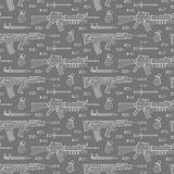 Seamless military pattern 02 Stock Photo