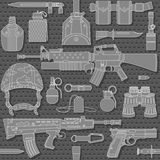 Seamless military pattern 03 Royalty Free Stock Photos
