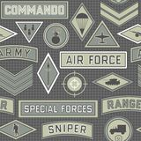 Seamless military pattern 09 Royalty Free Stock Photography