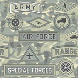 Seamless military pattern 08 Stock Photo