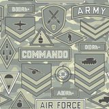 Seamless military pattern 11 Royalty Free Stock Images