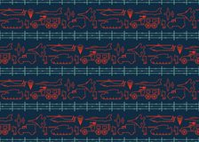 Seamless military pattern 12 Stock Images