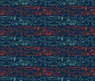 Seamless military pattern 14. Seamless military pattern can be used for graphic design, textile design or web design Stock Photo
