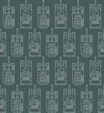 Seamless military pattern with tanks Stock Photos