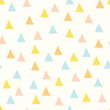 Seamless minimal vector pattern with colorful triangles. Stock Image