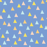Seamless minimal vector pattern with colorful triangles. Royalty Free Stock Photography