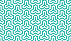 Seamless mint and white isometric hexagonal symmetry medieval pattern vector. Seamless mint and white isometric hexagonal symmetry medieval pattern Stock Images