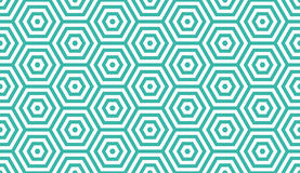 Seamless mint and white op art hexagon illusion pattern vector. Seamless mint and white op art hexagon illusion pattern Royalty Free Stock Photos
