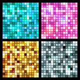 4 seamless mirror mosaic Royalty Free Stock Photography