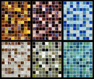 Seamless mix of mosaic. Royalty Free Stock Photography