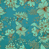 Seamless mjuk blom- bakgrund Royaltyfria Foton