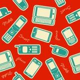 Seamless mobil apparatbakgrund Arkivfoton