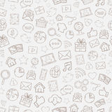 Seamless Mobile apps pattern Stock Photography