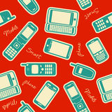 Seamless mobile devices background Stock Photos