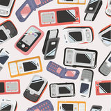Seamless Mobile phone icon Stock Photography