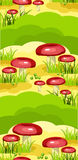 Seamless model of mushroom glade Royalty Free Stock Photography