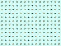 seamless modell Abstrakt öga på en blå bakgrund vektor Arkivbild