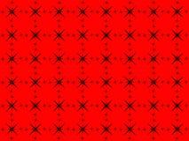 seamless modell Abstrakta svarta stjärnor på en röd bakgrund Arkivbild
