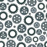 Seamless modell av kugghjul vektor illustrationer