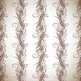 seamless modell bakgrundsbanret blommar datalistor little rosa spiral upprepa royaltyfri illustrationer