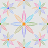 seamless modell Blom- stilfull bakgrund Vektor som upprepar textur Royaltyfri Fotografi