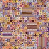 seamless modell dekorativ elementtappning bakgrund tecknad hand Islam arabiska, indier, ottomanmotiv Fotografering för Bildbyråer