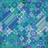 seamless modell dekorativ elementtappning bakgrund tecknad hand Islam arabiska, indier, ottomanmotiv Arkivfoto