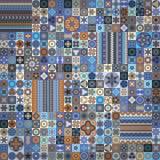 seamless modell dekorativ elementtappning bakgrund tecknad hand Islam arabiska, indier, ottomanmotiv Royaltyfri Foto