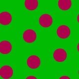 seamless modell En original- glad bakgrund är hallonärtor på det gröna fältet Royaltyfria Bilder