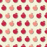 Seamless modell för äpplen stock illustrationer