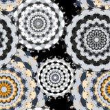 seamless modell För beståndsdelvektor för tappning dekorativ illustration Royaltyfri Fotografi