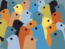 Seamless modell för färgrika fåglar royaltyfri illustrationer
