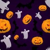 Seamless modell för halloween Arkivbilder