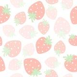 Seamless modell för jordgubbe stock illustrationer