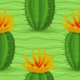 Seamless modell för kaktus Arkivbilder